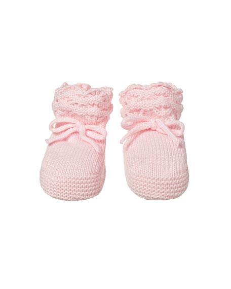 Pili Carrera Baby's Waffle Knit Cotton Booties