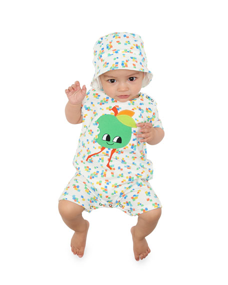 Smiley Face Apple Shortall, Size 0-24 Months