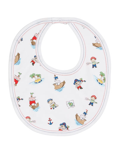Pirate Treasure Printed Bib