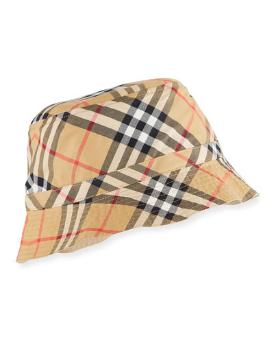 Kids' Chandy Check Bucket Sun Hat