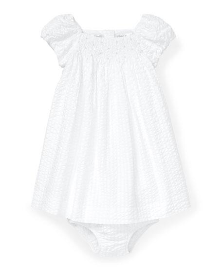 Ralph Lauren Childrenswear Seersucker Smocked Dress w/ Matching