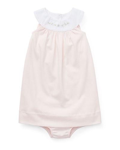 c8eebe2a1 Interlock Embroidered Knit Dress w/ Matching Bloomers Size 6-24 Months  Quick Look. Ralph Lauren Childrenswear