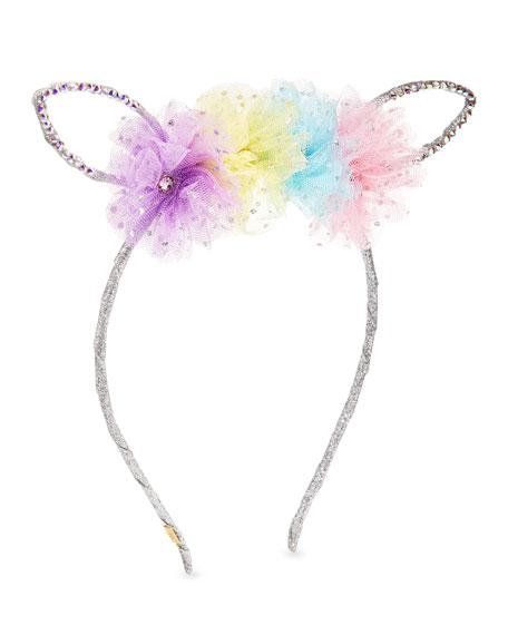 Bari Lynn Girls' Bunny Ear Headband w/ Multicolored