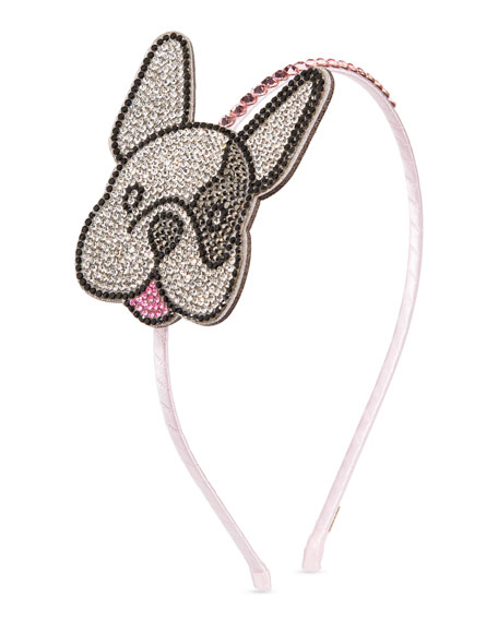 Bari Lynn Accessories GIRLS' CRYSTAL BULLDOG HEADBAND