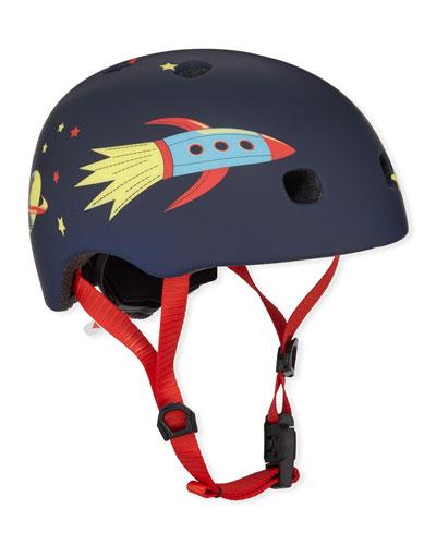 Boys' Rocket-Print Helmet  S