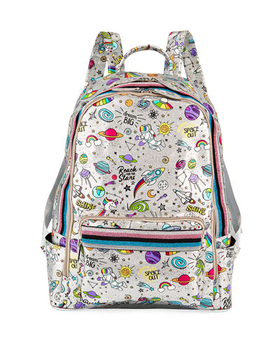 Kid's Galaxy Print Shimmer Backpack