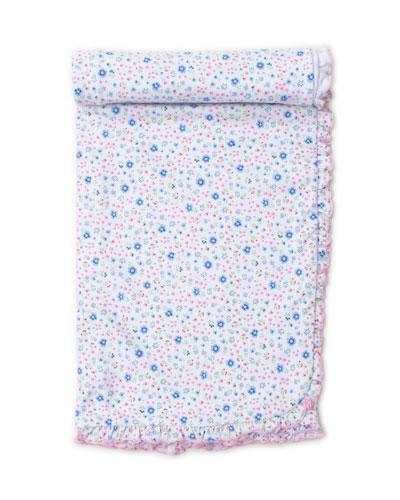 Garden Treasure Ruffle-Trim Printed Baby Blanket