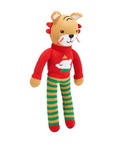 Knit Tiger Plush Doll  14