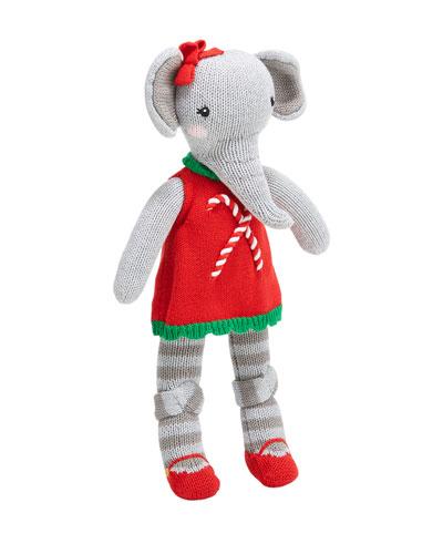 Knit Girl Elephant Plush Doll  14