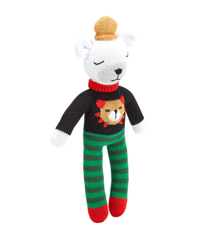 Knit Polar Bear Plush  14
