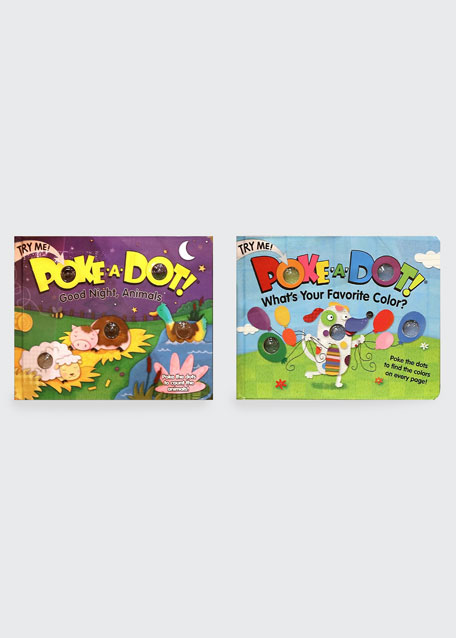 """Poke-A-Dot Book Bundle - """"Good Night, Animals"""" and """"What's Your Favorite Color?"""" Books"""