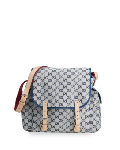 New GG Canvas Diaper Bag