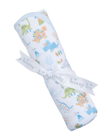 Dino Dash Pima Baby Blanket