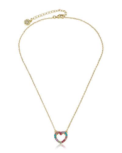 Girls' Open Heart Pendant Necklace (Hypoallergenic)