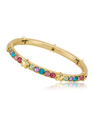 Girls' Multi Color Stone And Star Bangle (Hypoallergenic)
