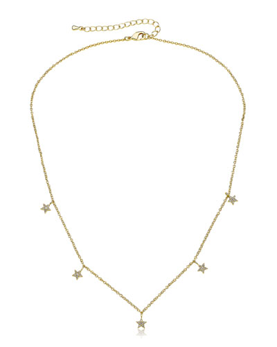 Girls' Stars Dangle Necklace (Hypoallergenic)