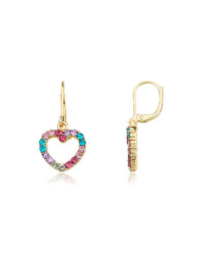 Girls' Open Heart  Dangle Earrings (Hypoallergenic)