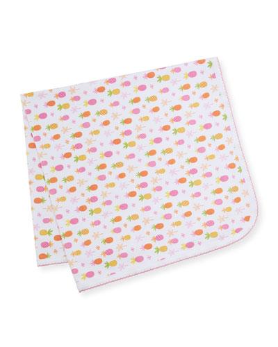 Prismatic Pineapples Printed Baby Blanket