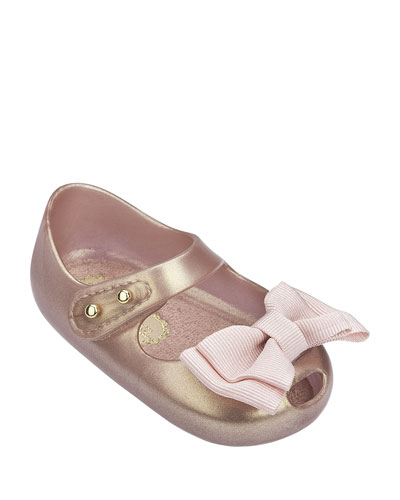 Shimmer Bow Mary Jane Flats  Kids