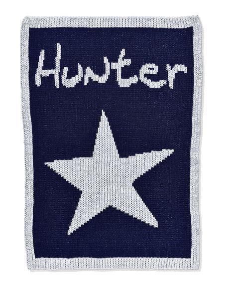 Single Star Metallic Stroller Blanket, Personalized