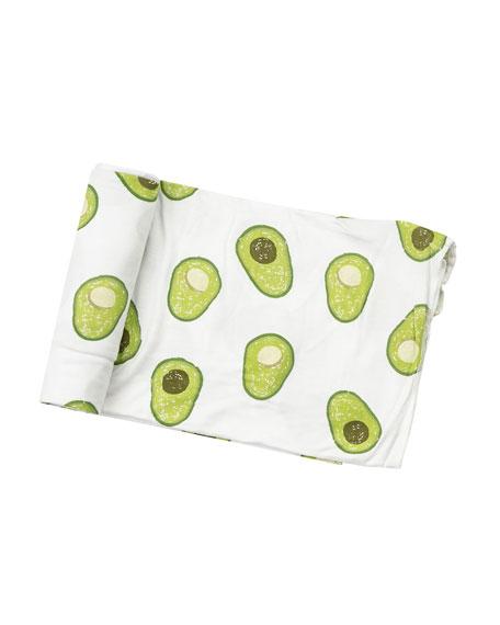 Avocado Printed Swaddle Blanket