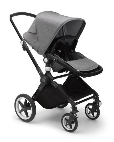 Lynx Complete Stroller, Black/Grey Melange