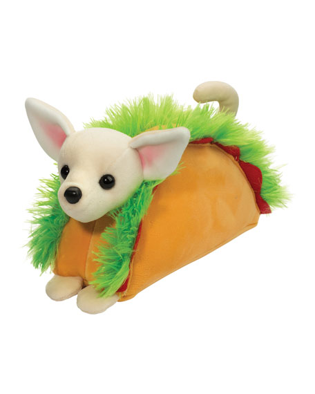 Image 1 of 1: Taco Chihuahua Macaroon Plush Toy