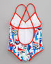 Sailboat Crisscross Swimsuit