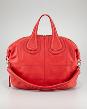 Givenchy Nightingale Zanzi Leather Bag, Medium