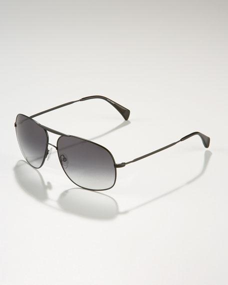 Squared Aviator Sunglasses, Golden