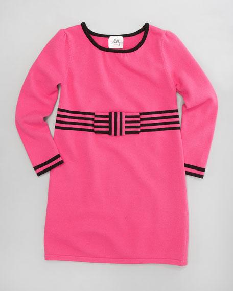 Betsy Bow-Knit Dress, Sizes 8-10