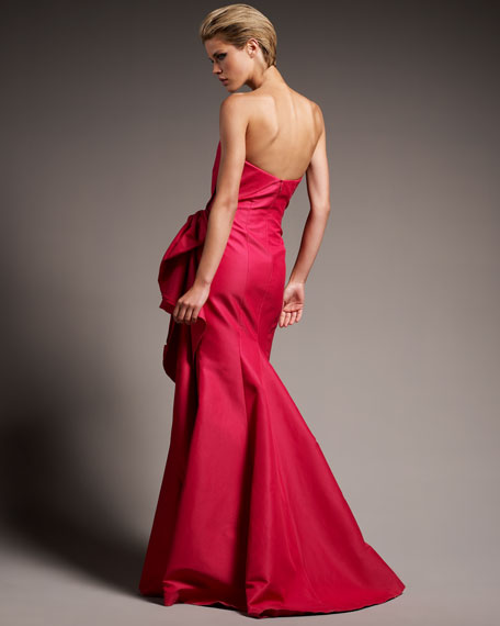 Strapless Side-Gathered Gown