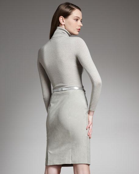 Evanna Suede Pencil Skirt