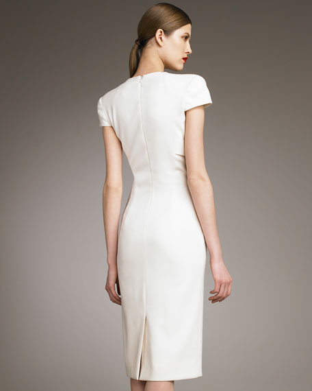 Illusion-Bolero Sheath Dress