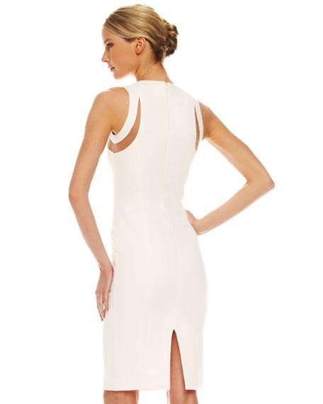 Illusion Cutout-Shoulder Dress
