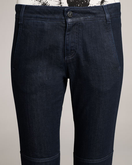 Skinny Seamed Jeans