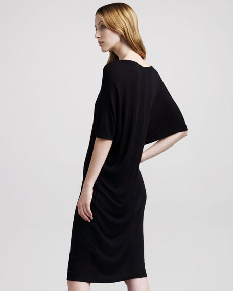 Batwing-Sleeve Jersey Dress