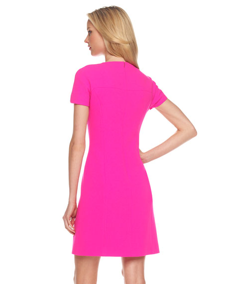 Stretch Boucle Dress, Neon