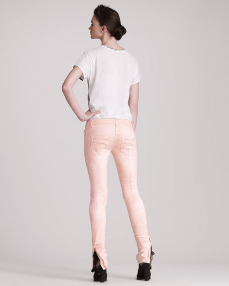 Pieced Coral Jeans