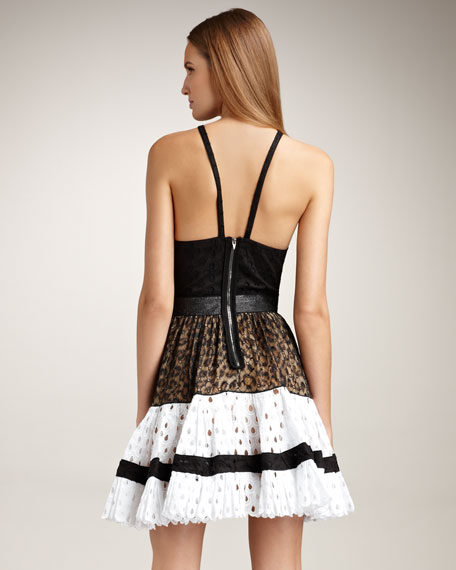 Open-Back Tiered Dress