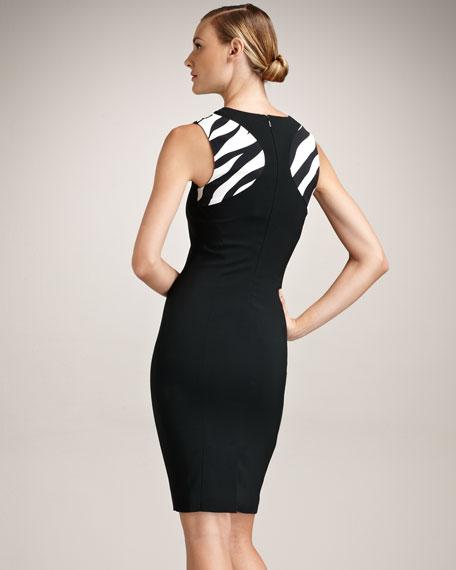 Sheath Animal Inset Dress