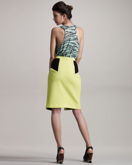 Colorblock Skirt