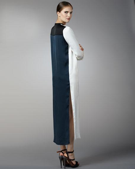 Contrast-Back Dress