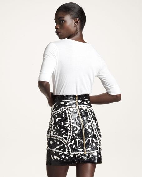 Laser-Cut Miniskirt
