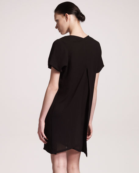 Short-Sleeve Georgette Dress