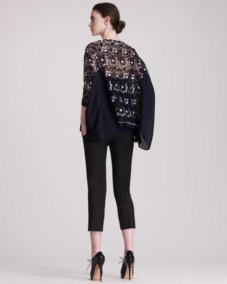Cropped Tropical Wool Pants