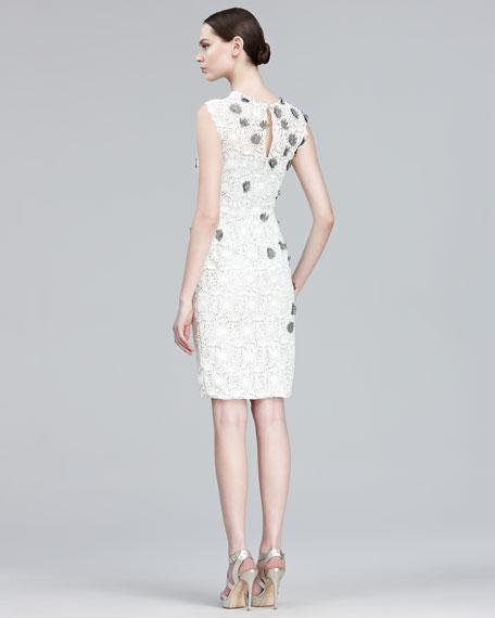 Floral-Applique Lace Dress