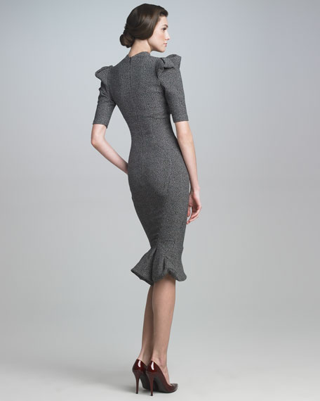 Sculpted Tweed Dress