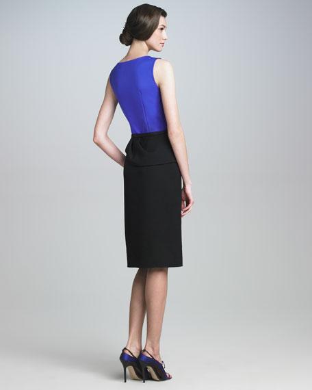 Drape-Skirt Combo Dress