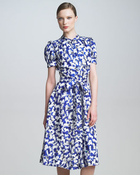Gaspar-Print Shirtdress